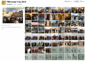 TBS Israel Trip Flickr Site Preview