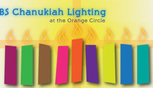 Chanukiah Lighting in the Orange Circle