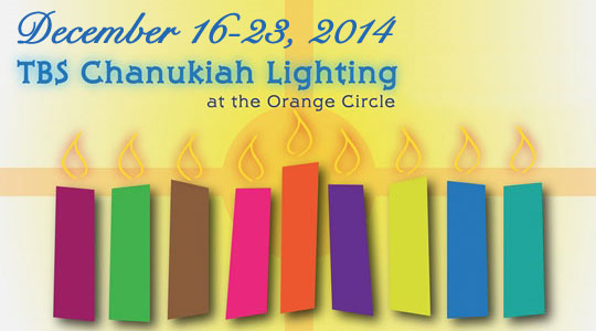 Chanukiah Lighting in the Orange Circle 2014